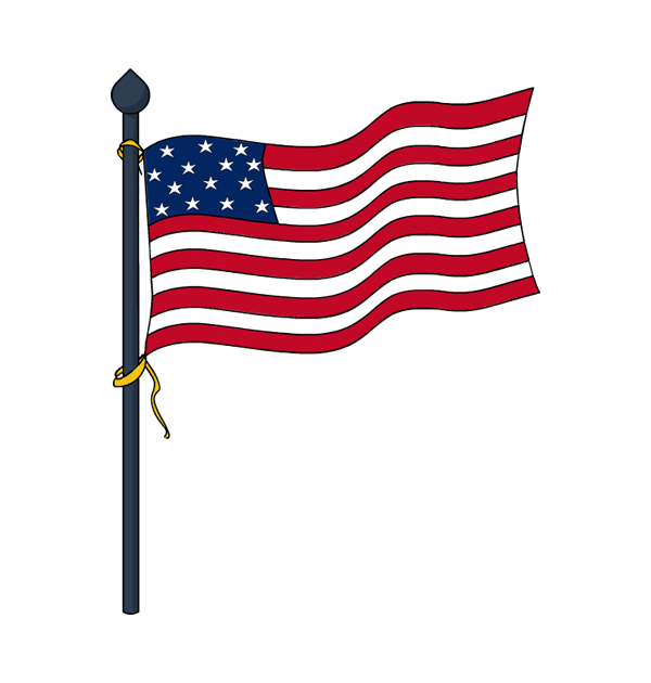 Memorial Day Flags Clipart