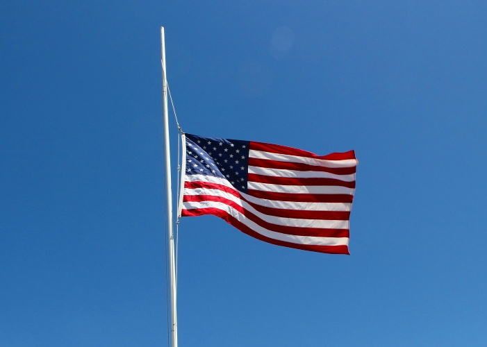 Memorial Day Flags Half Mast