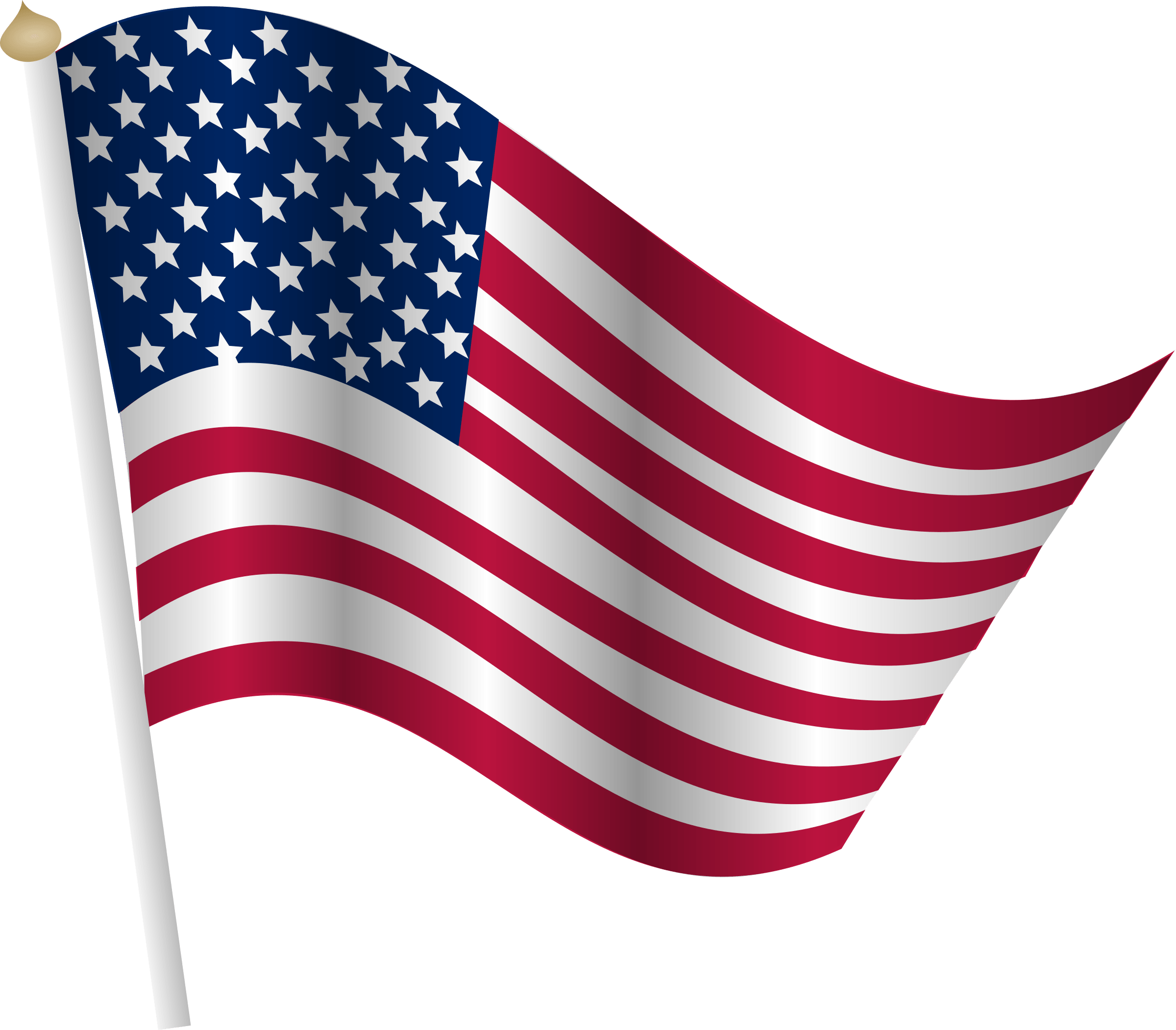 USA Flags Clipart