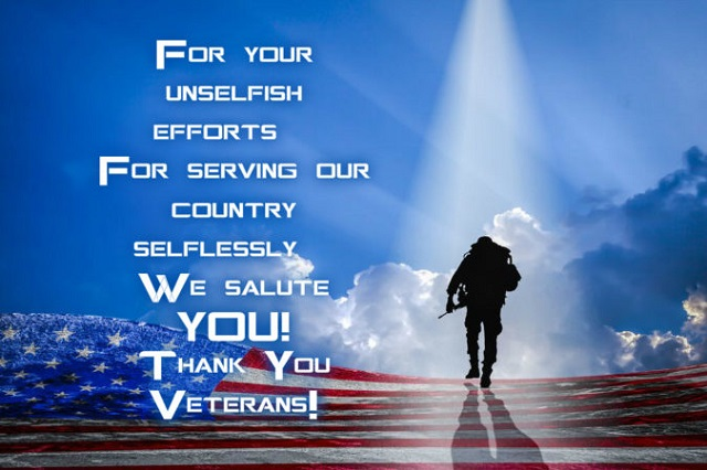 Thank You Veterans Day Greetings