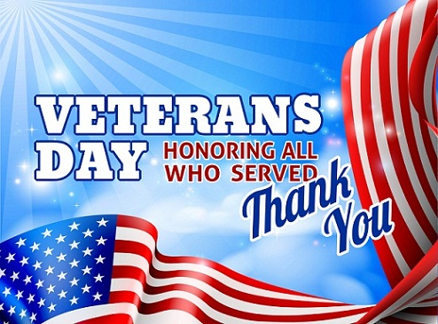 Veterans Day Thank You Greeting Cards