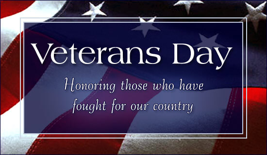 Veterans Day Thank You Greetings